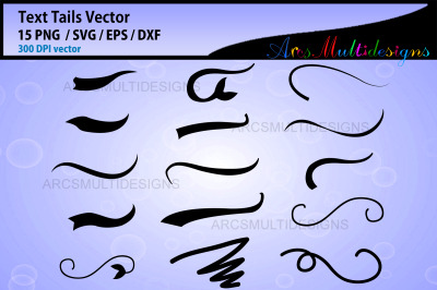 Text Tails svg / Font Tail Svg