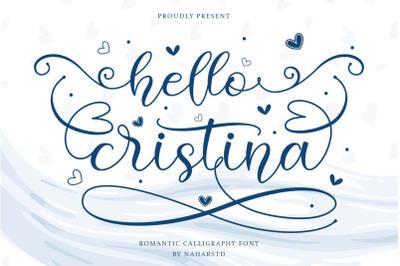 Hello Cristina