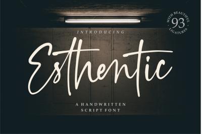 Esthentic a Handwritten Script Font