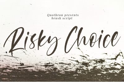 Risky Choice - Brush Script