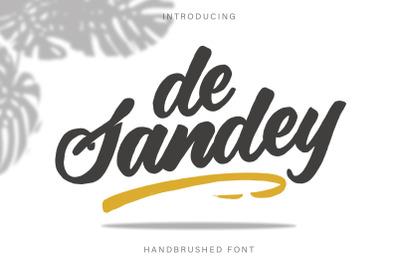 De Sandey || Handbrushed Font