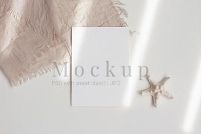 Greeting Card Mockup,Digital Mockup