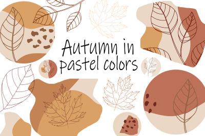 Autumn in pastel colors