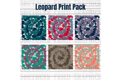 Leopard Tie Dye Pattern Digital Graphic Bundle