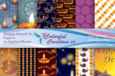 Happy Diwali Digital Papers, Diwali Digital Papers, Indian Scrapbook B