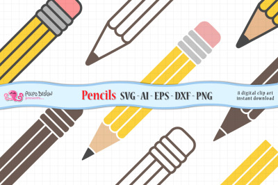Pencil SVG, Eps, Dxf, Ai and Png