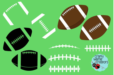 Football Bundle Svg, Football Silhouette, Laces Svg