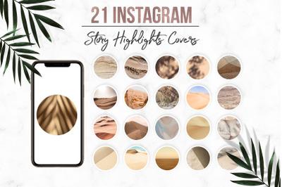 Neutral Instagram Highlight Covers