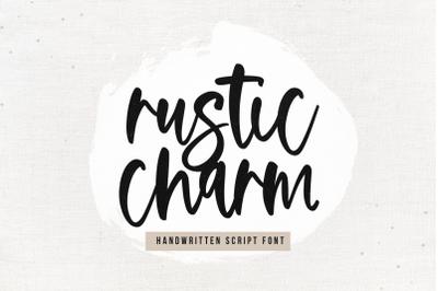 Rustic Charm - Handwritten Script Font