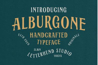 Alburgone - Display Typeface