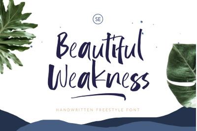 Beautiful Weakness - Handwritten Font