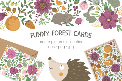 Funny Forest Cards