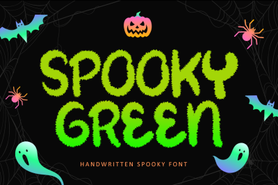 Spooky Green - Handwritten Spooky Font