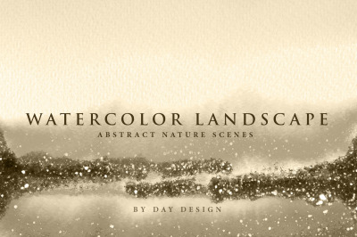 Watercolor Textures - Landscape Rose Backgrounds