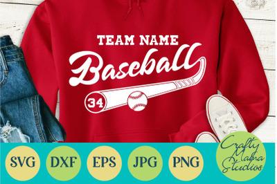 Baseball Team Svg, Baseball Shirt Svg, Baseball Cut File