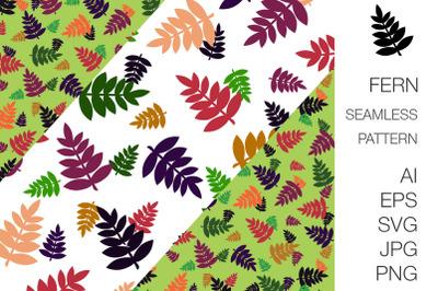 Fern foliage seamless pattern + border