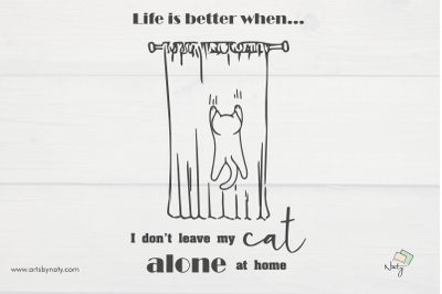 Funny cat quotes SVG printable illustration.