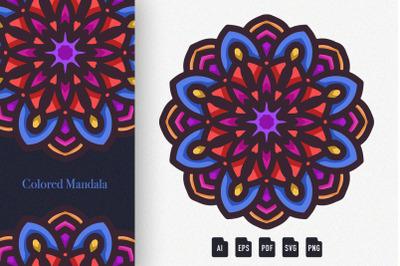 Colored Mandala Art 01