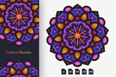 Colored Mandala Art 03