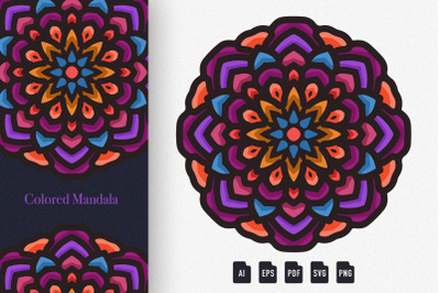 Colored Mandala Art 04