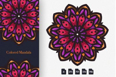 Colored Mandala Art 05