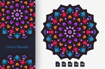 Colored Mandala Art 06
