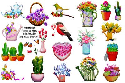 Watercolor Floral Arrangements and More ClipArt