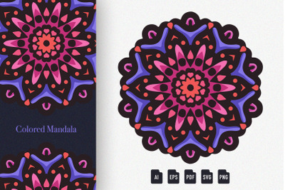 Colored Mandala Art 07
