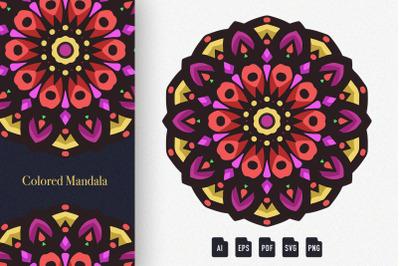 Colored Mandala Art 08