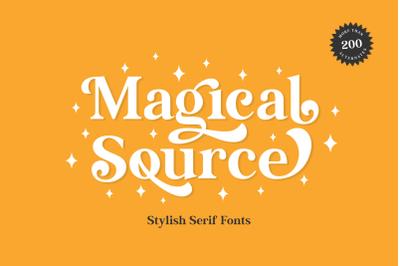 Magical Source - Stylish serif font