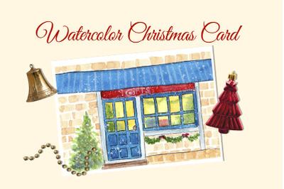 Printable Watercolor Christmas Card