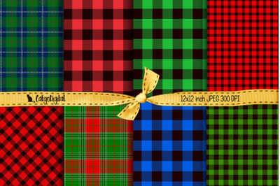 Lumberjack Buffalo Plaid Printable Papers