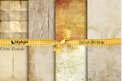 Vintage Old Papers Digital Papers Background Papers