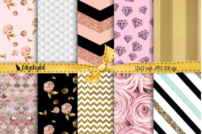 Girly Background Papers Scrapbooking