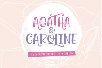 Agatha Caroline - Handwritten Font in 2 Styles