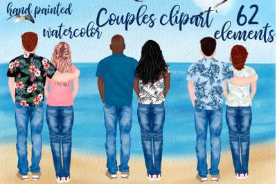 Couples clipart Custom People Rear Boyfriend Girlfriend