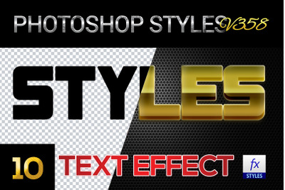 10 creative Photoshop Styles V358
