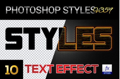 10 creative Photoshop Styles V359