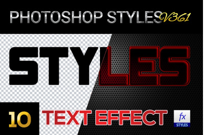 10 creative Photoshop Styles V361