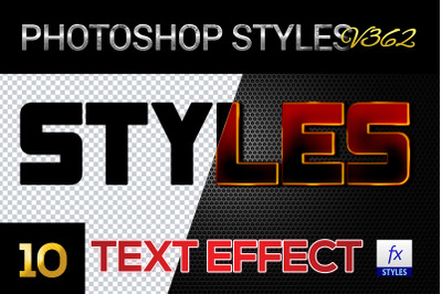 10 creative Photoshop Styles V362