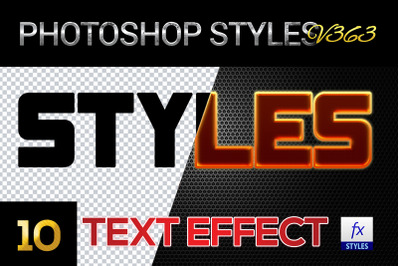 10 creative Photoshop Styles V363