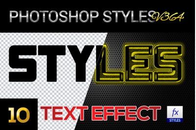 10 creative Photoshop Styles V364
