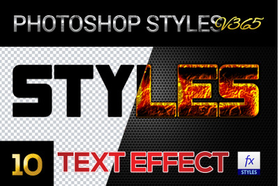 10 creative Photoshop Styles V365