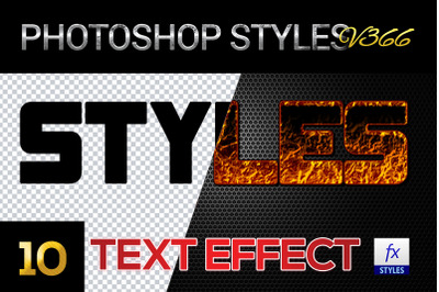 10 creative Photoshop Styles V366