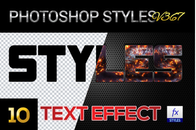 10 creative Photoshop Styles V367