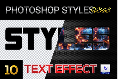 10 creative Photoshop Styles V368