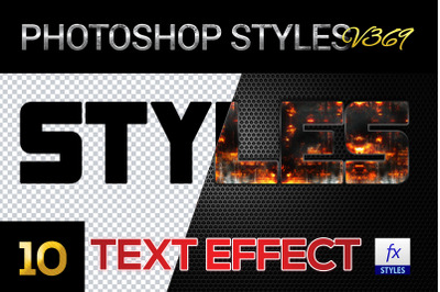 10 creative Photoshop Styles V369