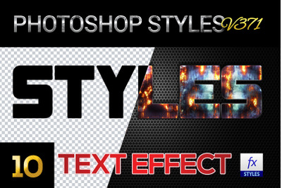 10 creative Photoshop Styles V371