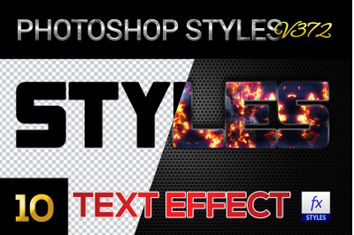 10 creative Photoshop Styles V373