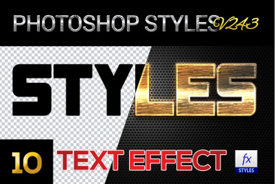 10 creative Photoshop Styles V374